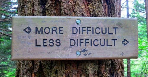 More difficult, less difficult